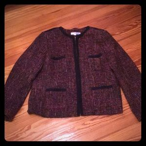 Great tweed Chanel style jacket .Re-posh
